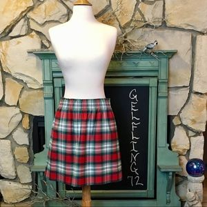J. Crew Factory Plaid Skirt